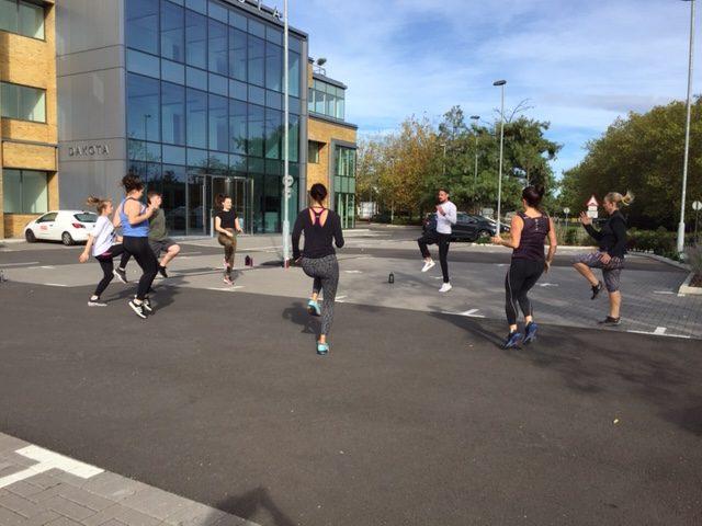 Fitness class in Weybridge